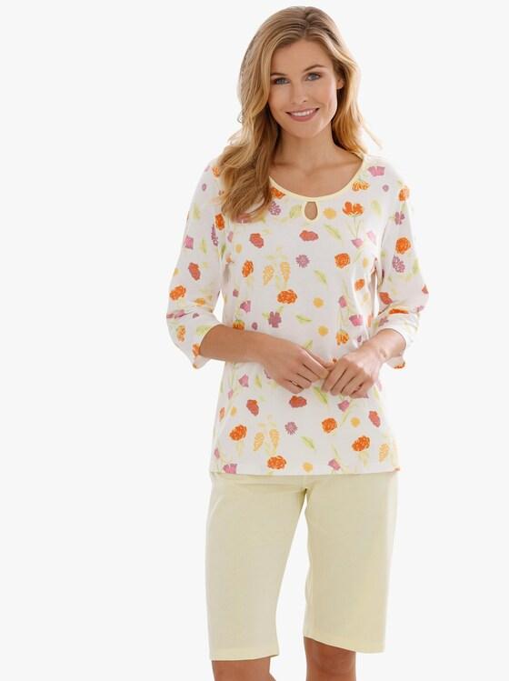 Pyjama - geel geprint