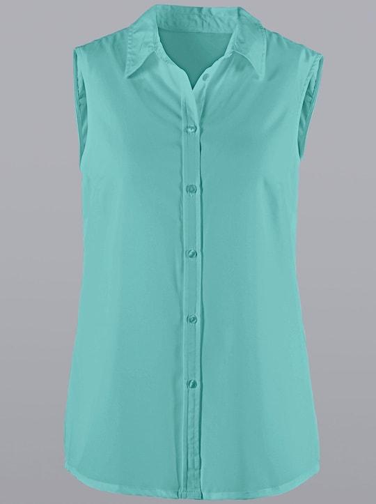 Mouwloze blouse - mint