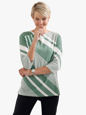 Shirt - groen gestreept