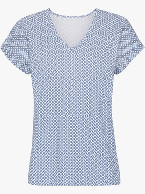 Shirt - hellblau-bedruckt