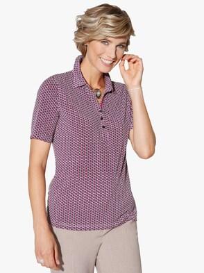 Poloshirt - fuchsia-bedruckt