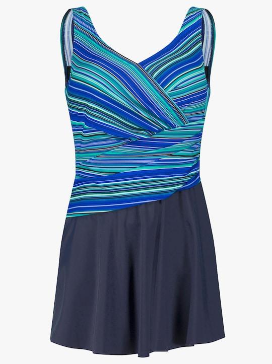 feel good Badeanzug - blau-gestreift