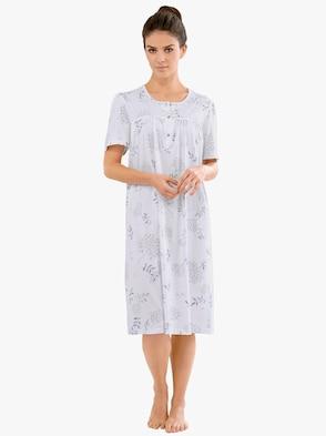 Nachthemd - weiß-lila