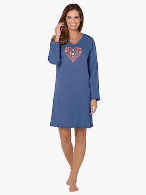 Sleepshirts - apricot + blau