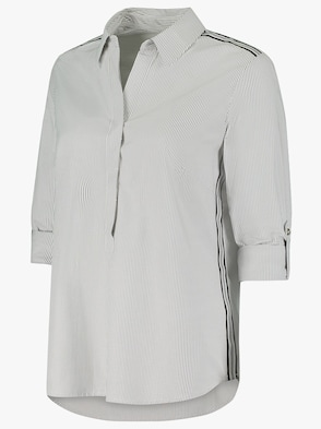 Bluse - schwarz-ecru