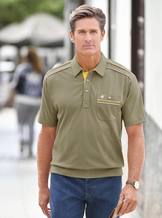 Kurzarm-Poloshirt - khaki