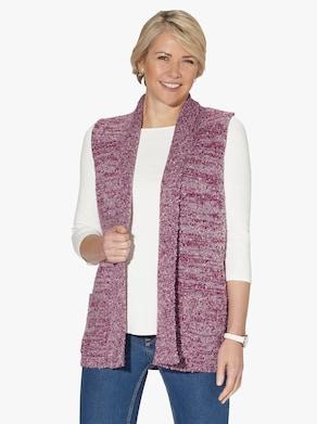 Pletená vesta - Hnedofialové melírovanie