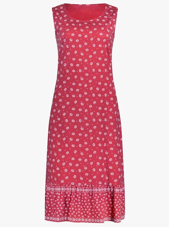 Kleid - rot-gemustert