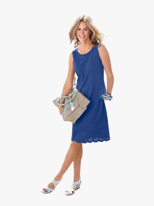 Trikåklänning - kungsblå