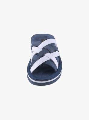 Bade-Pantolette - marine-weiß