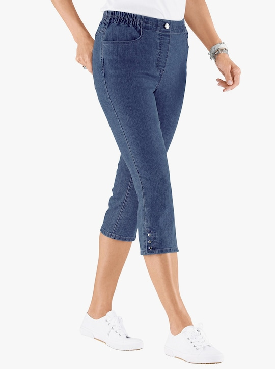Capri-jeans - blue-stonewashed