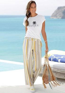 Venice Beach Rundhalsshirt - weiß