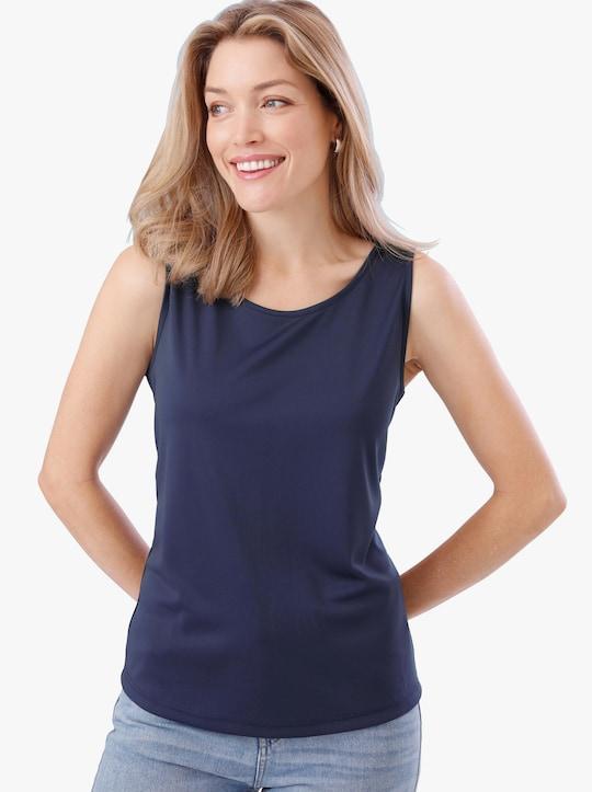 Shirttop - nachtblauw