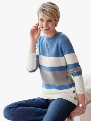 Pullover - middenblauw/steengrijs