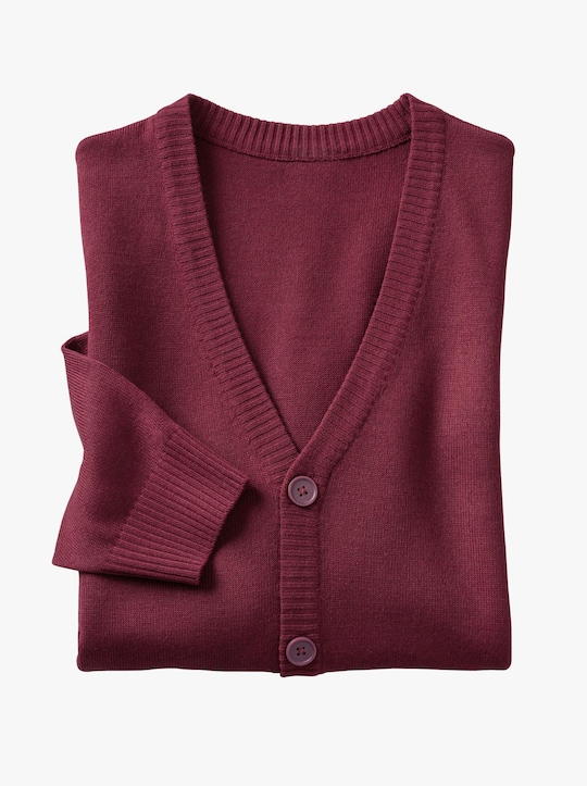 Pletený kabátek - bordó