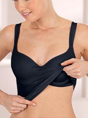 Viania Bügel-BH-Hemd - schwarz