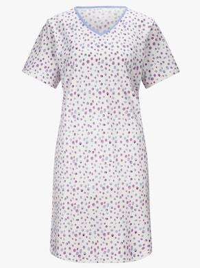 Ascafa Sleepshirts - lila + lila-bedruckt