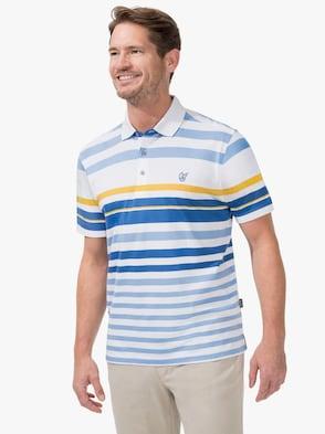 Kurzarm-Shirt - weiß-blau-gestreift