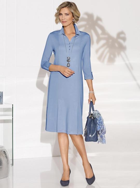 Jersey-Kleid - bleu