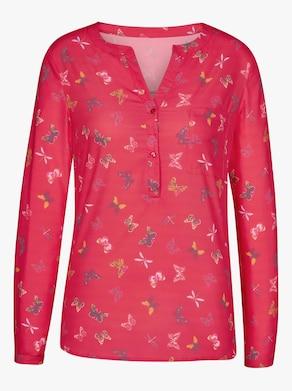 Bluse - erdbeere-gemustert