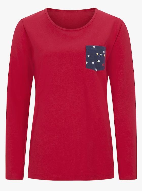 Schlafanzug - rot-marine