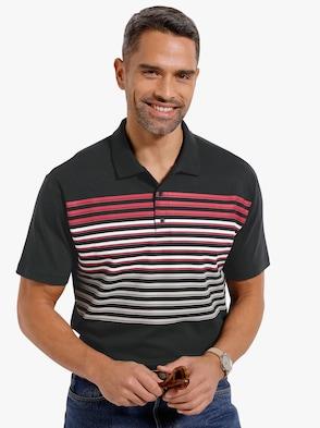 Poloshirt - schwarz-rot