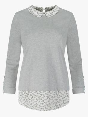Longshirt - grau-meliert