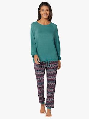 Schlafanzug - smaragd-bedruckt
