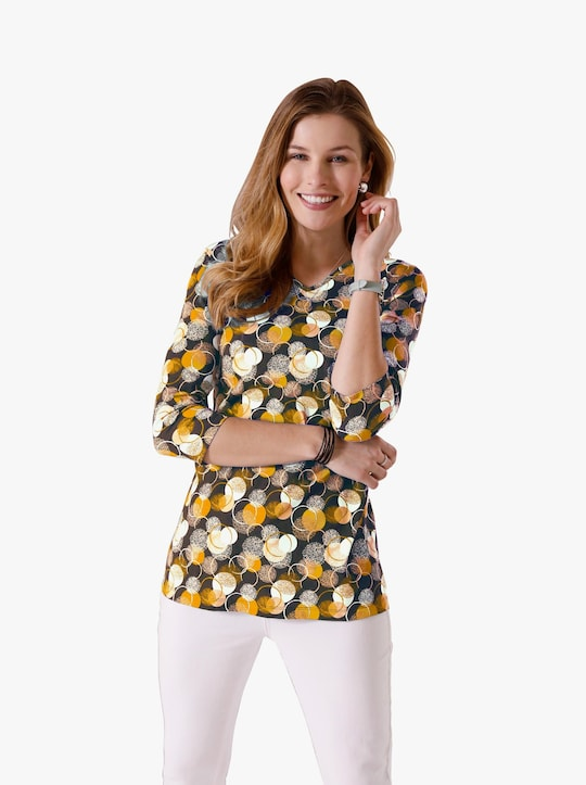 Lang shirt - vanille gedessineerd