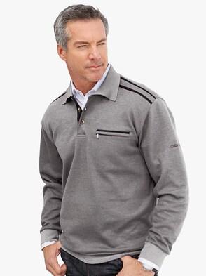 Sweatshirt - hellgrau-meliert