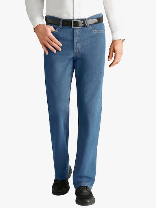 Džíny s 5 kapsami - bělená modrá