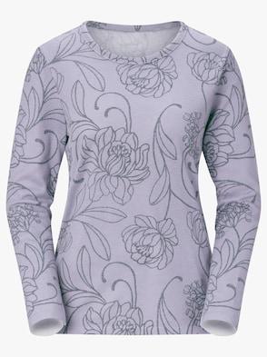 Pullover - lavendel-bedruckt