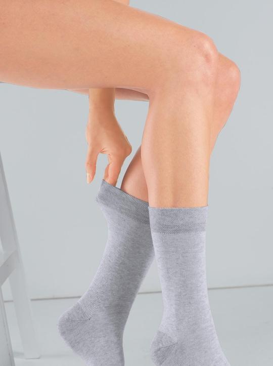 wäschepur Socken - grau-meliert