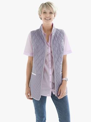 Prošívaná vesta - šedá