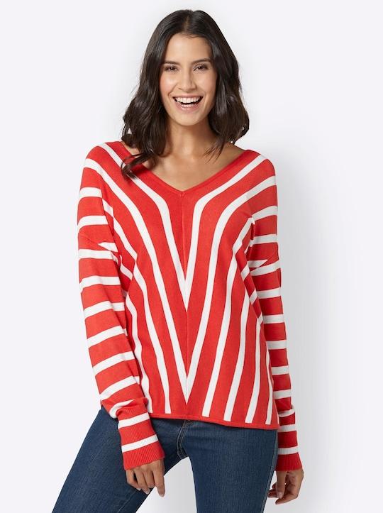 Pullover - koraal gedessineerd