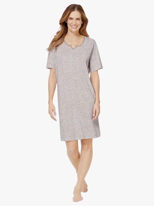 wäschepur Sleepshirt - weiß-sesam