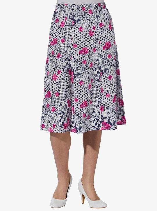 Sukňa - purpurová vzorovaná