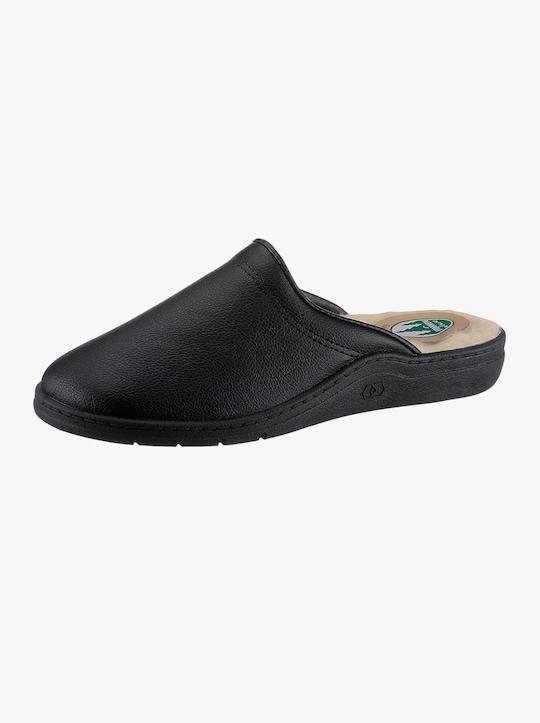 Pantofle s podšívkou - černá