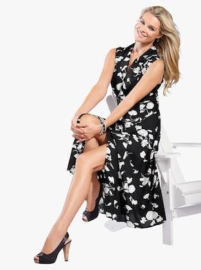 Kleid - schwarz-weiß