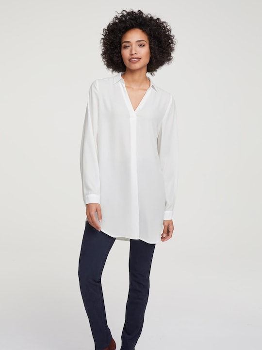 Rick Cardona Longline blouse - offwhite