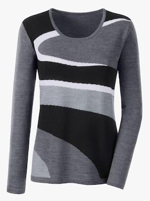 Pullover - grau-schwarz