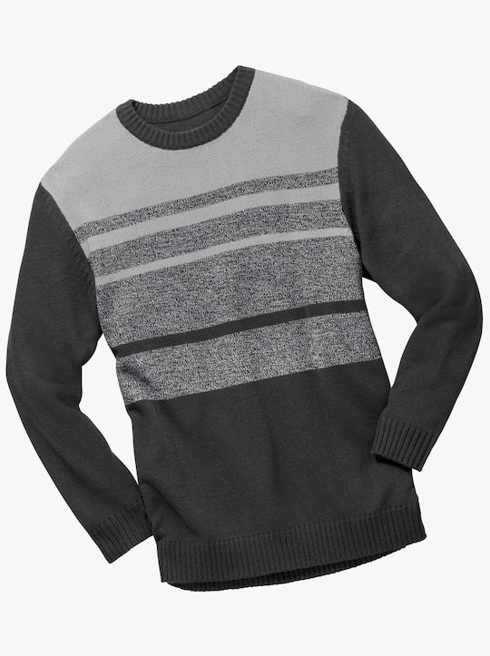 Pullover - schwarz-grau