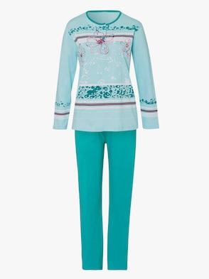 Schlafanzug - mint-bedruckt