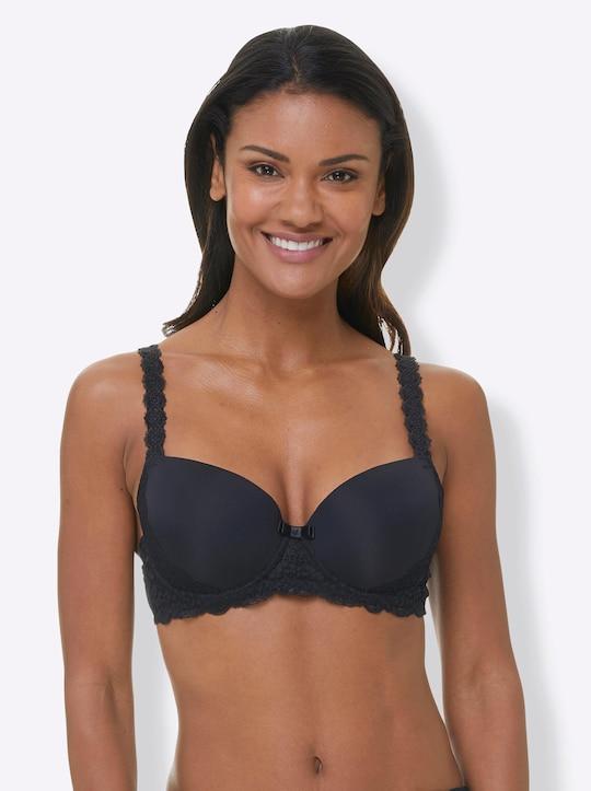Naturana Schalen-BH mit Bügel - schwarz