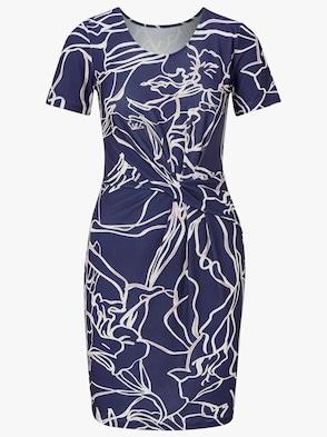 Jersey-Kleid - marine-bedruckt