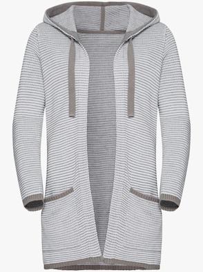 Cardigan - grå, randig