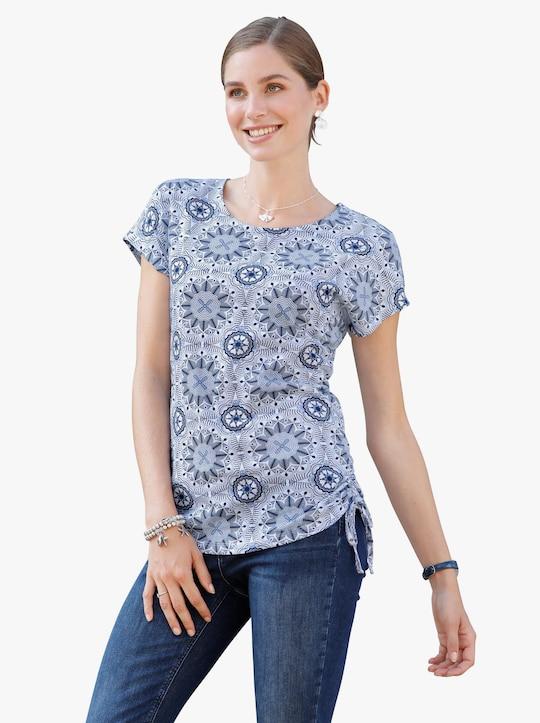Shirt - donkerblauw gedessineerd
