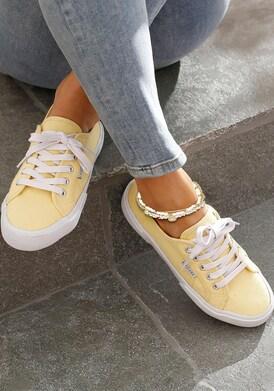 LASCANA Fußkette mit Anhänger - altgoldfarben-weiß