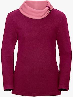 Fleece-Shirt - fuchsia-rosé