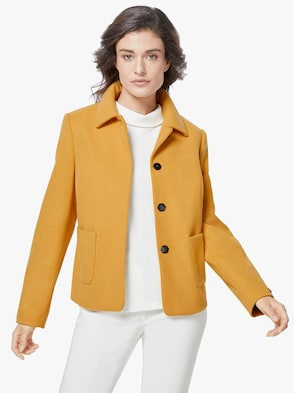 Woll-Jacke - gelb